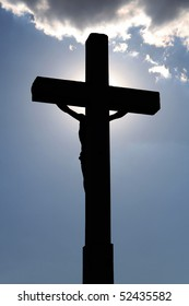 Cross, the rear side in the shade.