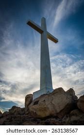 Cross and rocks at Mount Rubidoux Park, in Riverside, California.