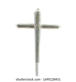 Cross rolled marijuana cannabis joint