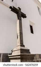 Cross in the Santa Barbara church in the Historic center of Quito. Historic center of Quito is the first UNESCO WOrld Heritage site