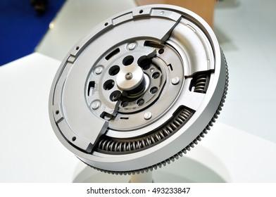 Cross section of a dual mass flywheel.