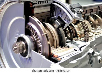 Cross section of a hybrid car automatic transmission.