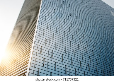 cross section of office buildings against sunlight,suzhou,china.