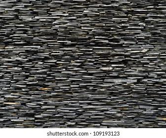 cross section pattern of decorative slate stone wall surface