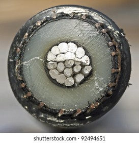 Cross section of a power cable