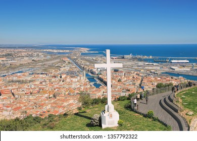 Cross of Sete, south of  France Languedoc- Roussillon,  Mediterranean Harbor