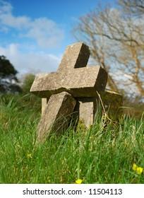 cross shaped grave stone