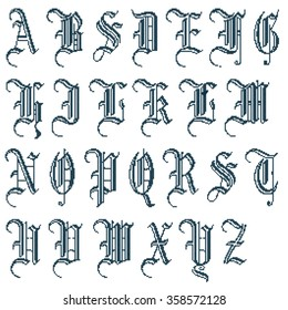 cross stitching alphabet