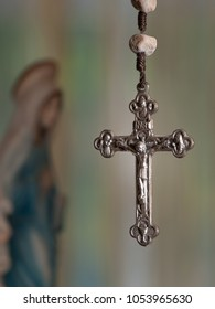 Cross with virgin Mary ,  for religious,spiritual themes