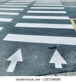 cross walk sign - arrowa together