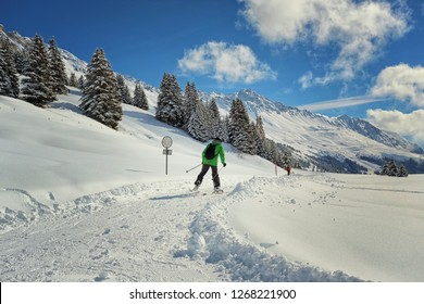 cross-country skiing in the alps