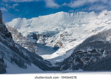 Cross-Country Skiing in the glaciers country at Lake Louise, Alberta, Canada
