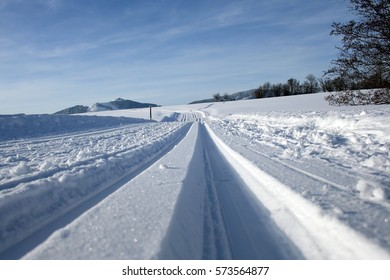 A cross-country skiing trail in Bavaria (Germany)