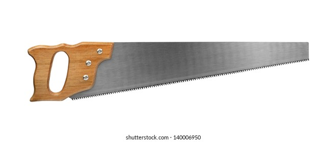 Crosscut saw isolated on white