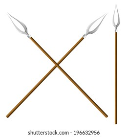 Crossed forks