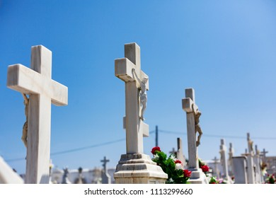 Crosses in a catholic cemetery