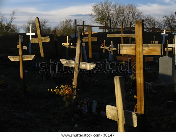 Crosses at the cemetary