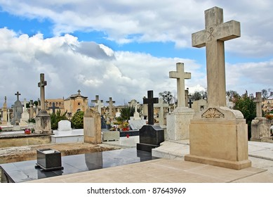 Crosses in the cemetery of Alcudia (Majorca - Balearic Islands)