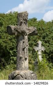 Crosses on the cemetery