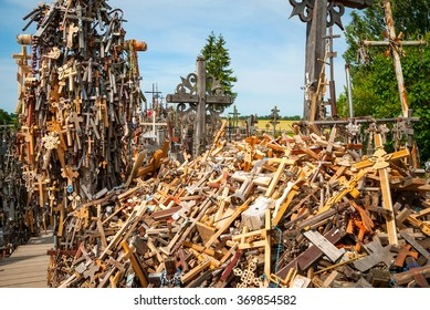 Crosses on hill of crosses, Siauliai, Lithuania