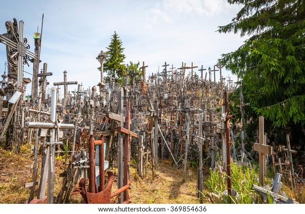 Crosses on hill of crosses, Siauliai, Lithuania