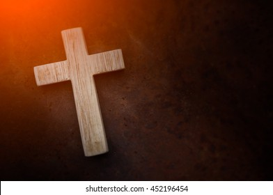 Crosses on a  metal sheet table background