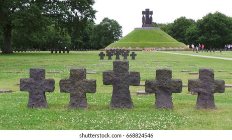 Crosses on military cemetery