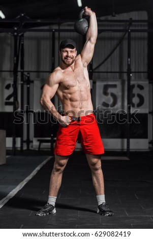 Crossfit Training Fitness Man Doing Weight Stock Photo Edit Now