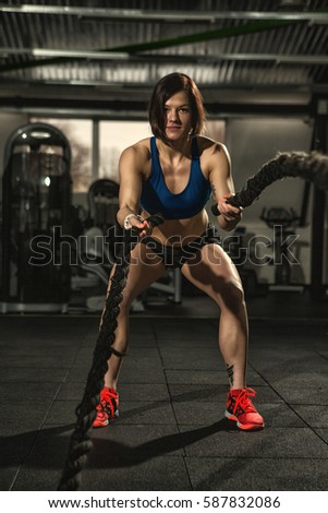 Crossfit Workout Vertical Full Length Shot Stock Photo Edit Now