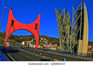 Crossing the bridge down the hill