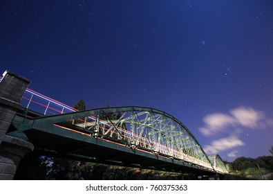 Crossing the iron bridge in sotogrande
