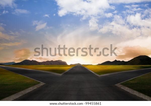crossroads representing opportunities