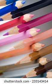 cross-stacked pencils slanting