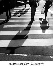 Crosswalk crossing for pedestrian safety