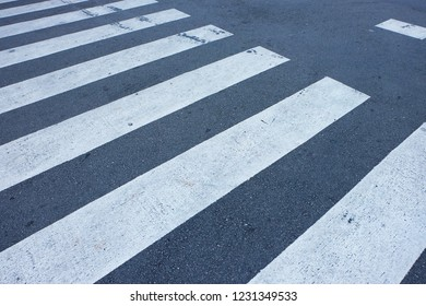 Crosswalk on the road in the city center