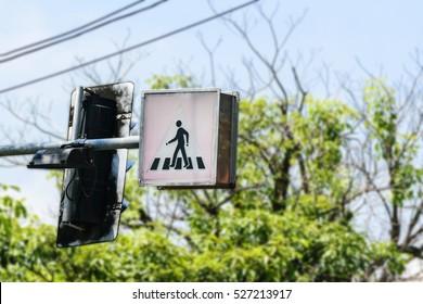 Crosswalk Sign in Thailand