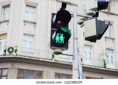 Necessary nudist traffic light