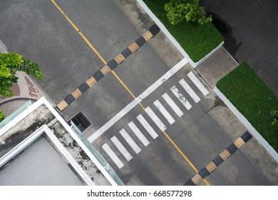 crosswalk,asphalt top view