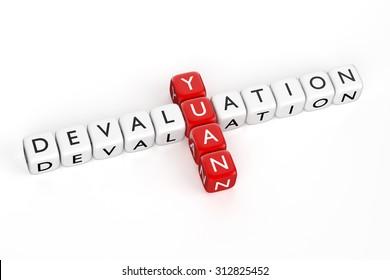 Crossword. Devaluation of Chinese Yuan. Render