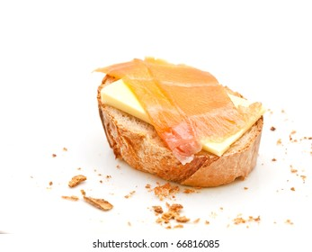 Crostini with smoked salmon and butter