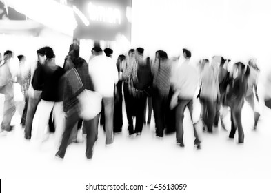 crowd audience people abstract blur motion
