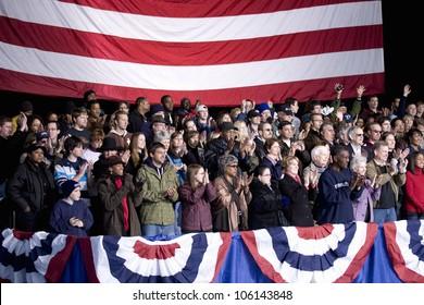 Crowd for Barack Obama Change We Need Presidential rally at Verizon Wireless Virginia Beach Amphitheater in Virginia Beach, VA, October 30, 2008