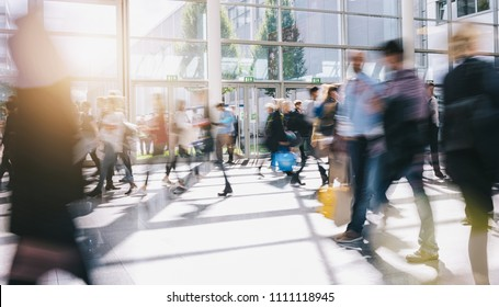 crowd blurred people