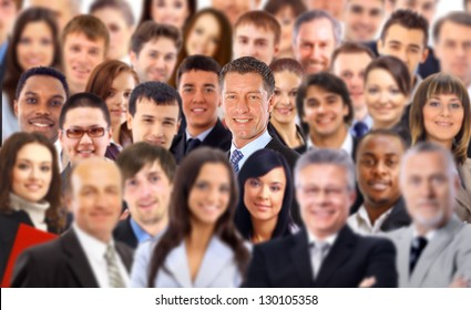 Crowd of a business people