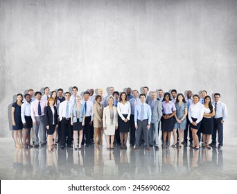 Crowd Business People Colleague Community Togetherness Team Concept