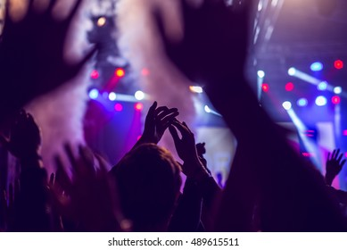Crowd enjoying an awesome concert on a festival.