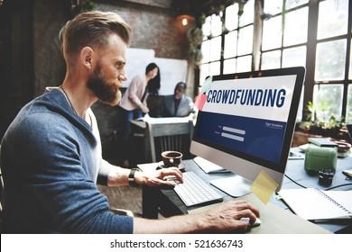 Crowd funding Money Business Enterprise Graphic Concept