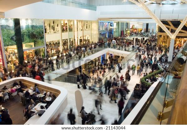 商店街の人混み