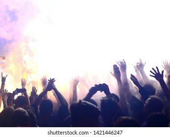 Crowd of people at the concert