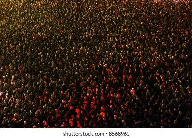 Crowd of people at a concert eve